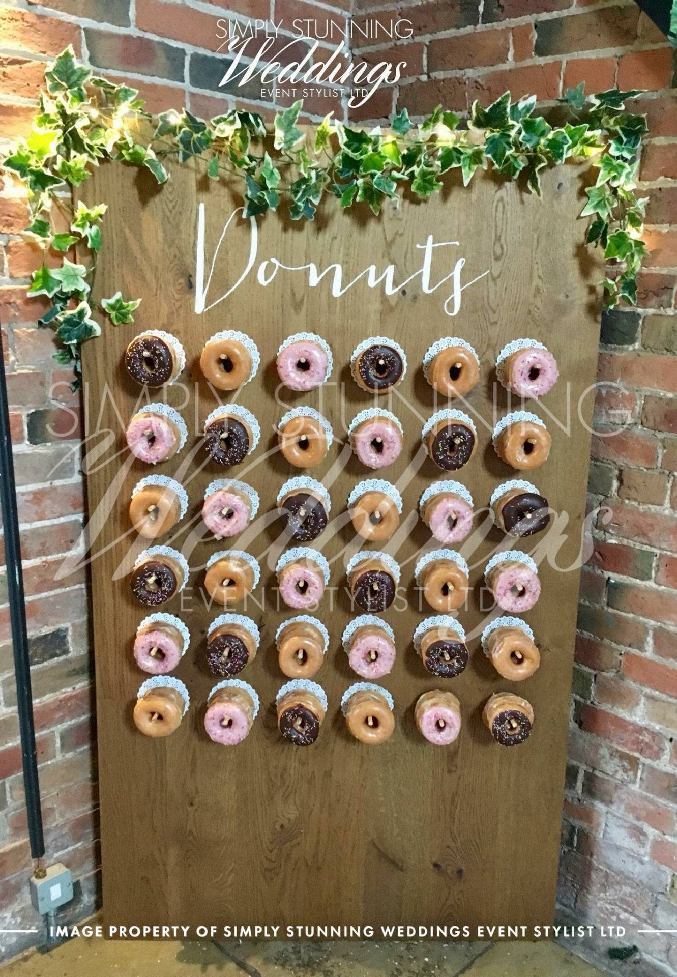 Donut Wall Hire. Krispy Kreme Donuts .Simply Stunning Weddings - Event Sylist Ltd. Venue Dresser. Solihull
