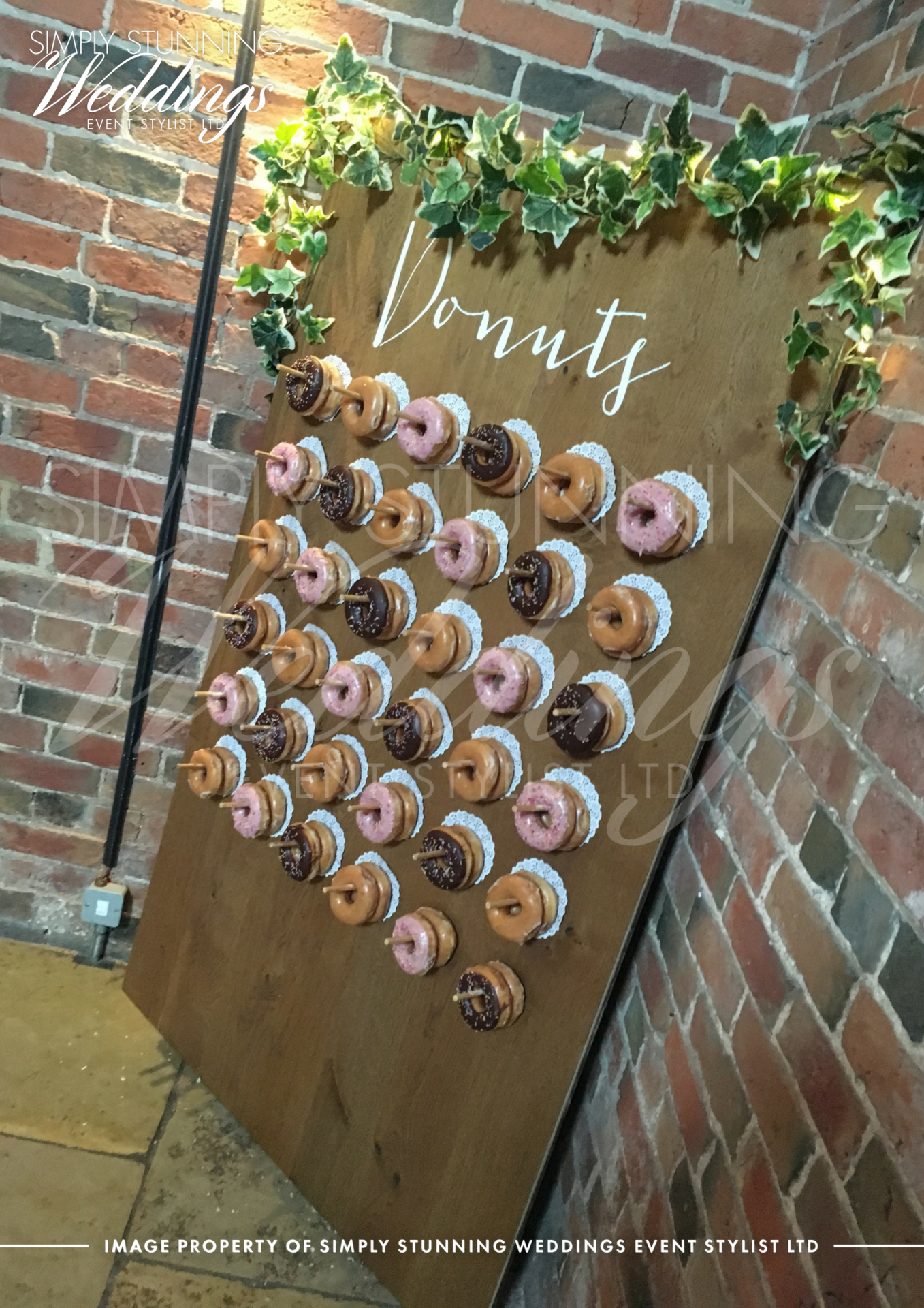 Donut Wall HireSimply Stunning Weddings - Event Sylist Ltd. Venue Dresser. Solihull