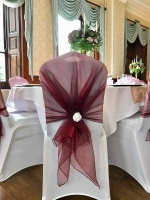 Wedding decor. chair covers. simply stunning weddings, event stylists ltd